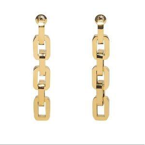 12k Gold Supra Chain Link Earrings by Eddie Borgo